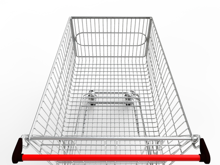 3d: 3d empty shopping cart Stock Photo