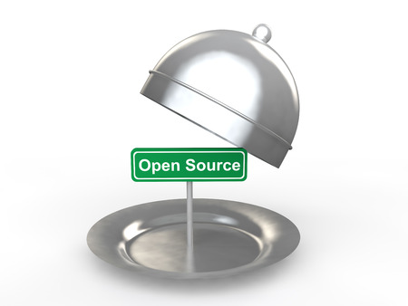 open source: 3d open source concept