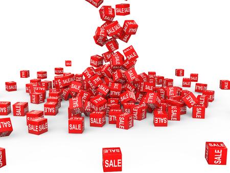 falling cubes: 3d red sale cubes falling