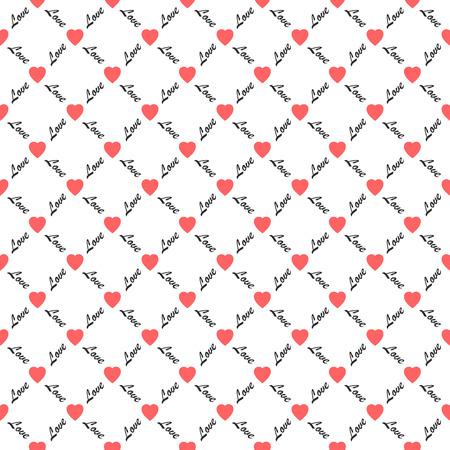 seamless: Love hearts seamless pattern