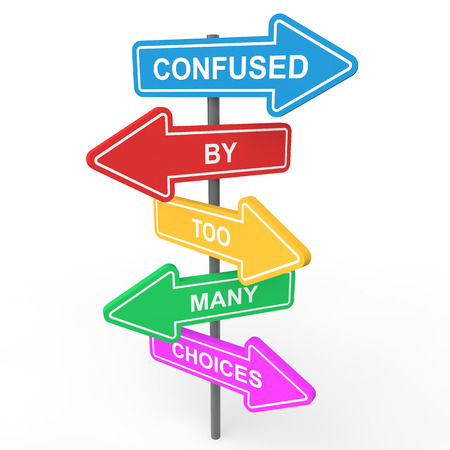 Confused by too many choices Stock Photo