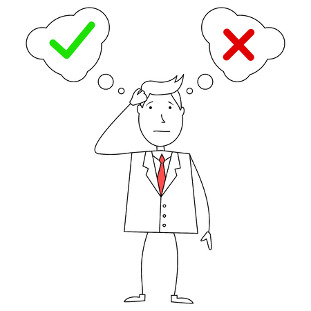 confused businessman: Cartoon confused businessman