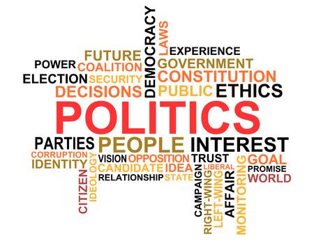 政治単語の雲 写真素材