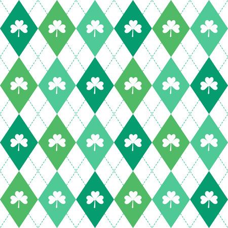 shamrock seamless: Irish shamrock leaves seamless pattern design Stock Photo
