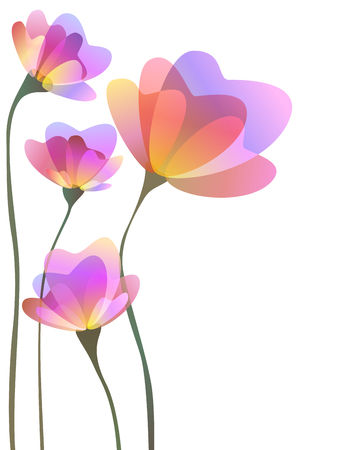 abstract flowers: Spring abstract flowers design Stock Photo