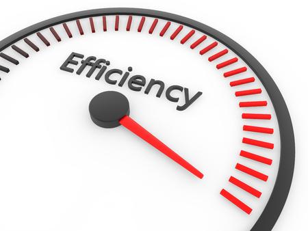 Speed meter maximale efficiëntie concept 3D-rendering