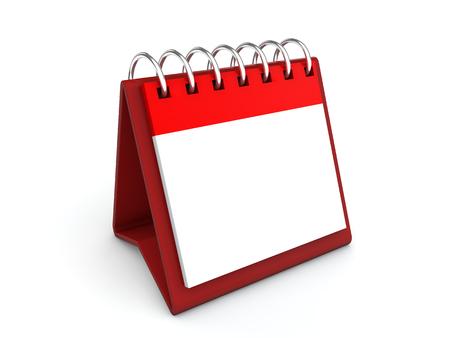 desk calendar: 3d rendering of blank desk calendar