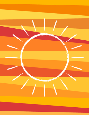 Abstract summer banner design with sun symbol