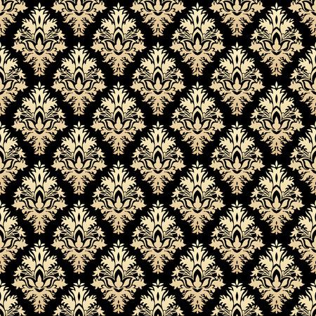 damask seamless: Golden luxury damask seamless pattern