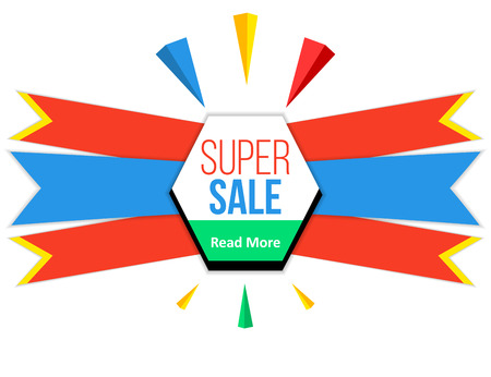 exciting: Fun colorful sale banner design