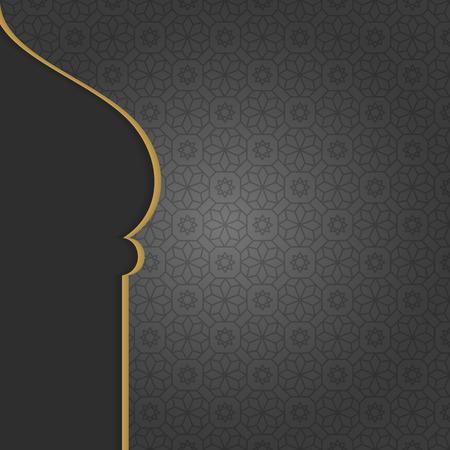 Black Arabian Islamic background design