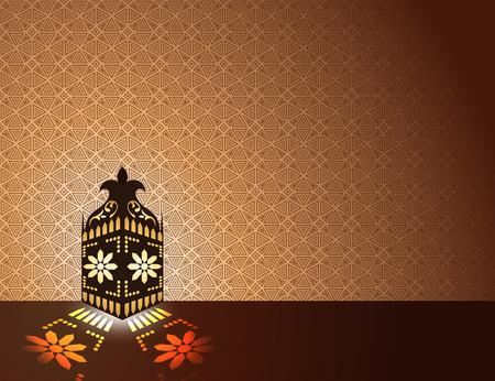 arabian: Arabian style lantern Islamic background Stock Photo