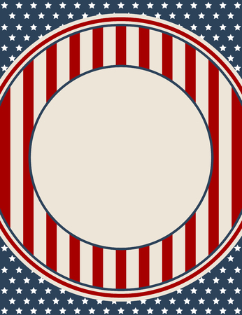 patriotic background: Vintage American patriotic background with blank space