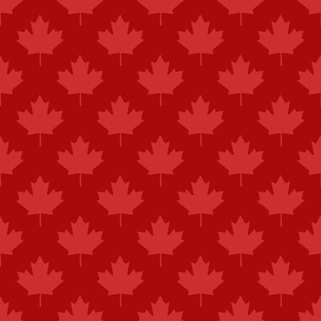 canadian maple leaf: Canadian maple leaf symbol seamless pattern