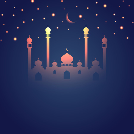 themed: Glowing Ramadan themed Islamic design Stock Photo