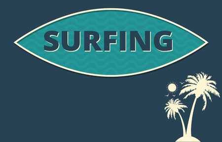 tropical climate: Tropical climate surfing poster design Stock Photo
