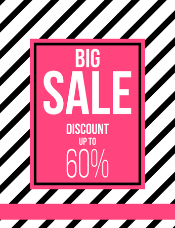 pink and black: Black and pink fashion sale poster design Stock Photo