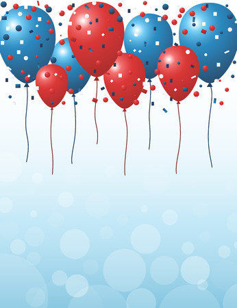 red balloons: Red and blue balloons background Stock Photo