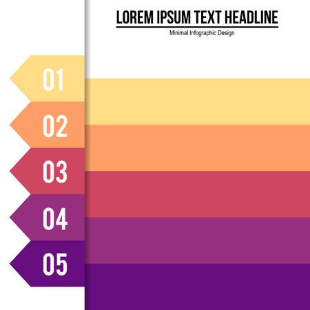 inforgraphic: Minimal modern inforgraphic design with steps