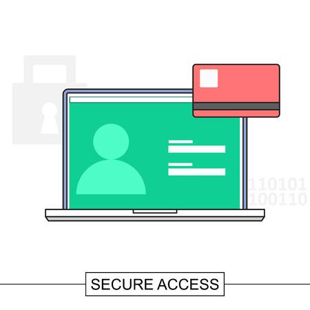 web access: Secure internet web access concept illustration