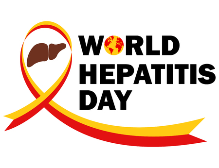 hepatitis prevention: World hepatitis day illustration