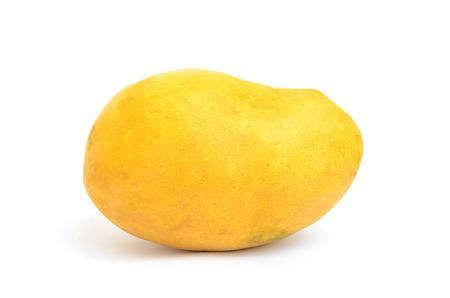 ripened: Single yellow ripened mango