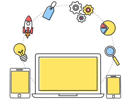 responsive: Responsive web development concept