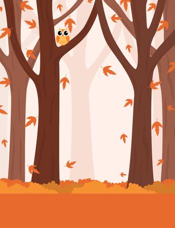 autumn scene: Autumn jungle scene poster