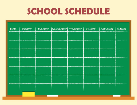 classes schedule: School schedule template design Stock Photo