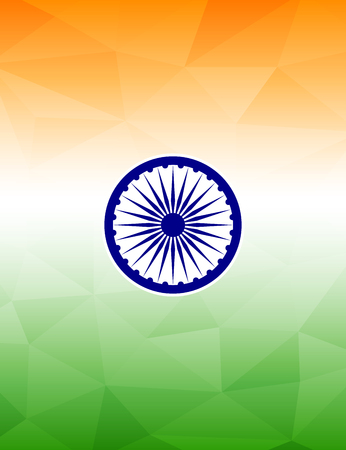 themed: Indian flag themed background