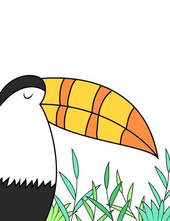 toucan: Cartoon toucan design