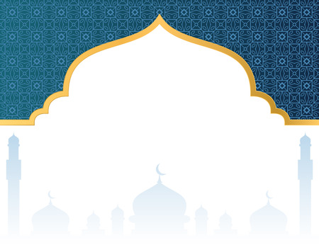 Blank islamic background with mosque Illusztráció