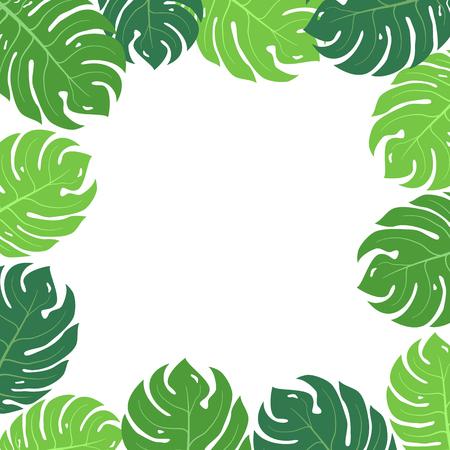 broad leaf: Tropical leaves frame