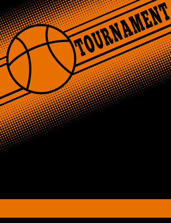 themed: Basketball themed flier template illustration.