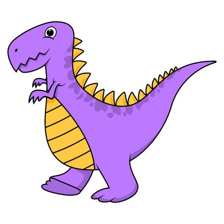 Cute cartoon purple t-rex