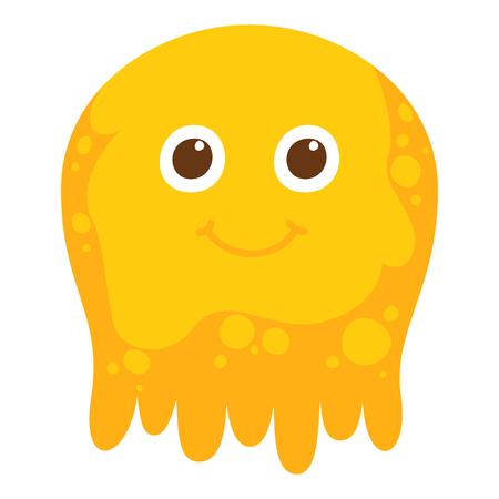 Cute Cartoon jelly character illustration.