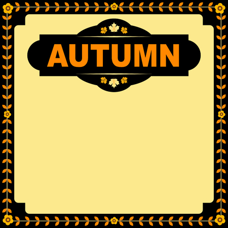 Autumn square banner with copy space