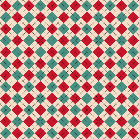 Vintage style christmas themed seamless pattern background vector illustration