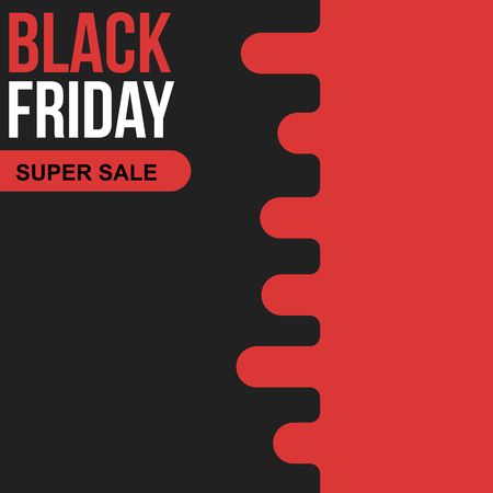 Black friday sale banner with copy space