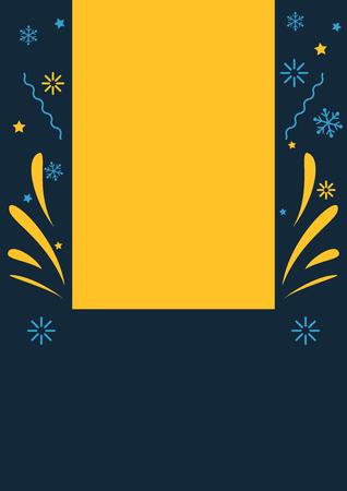 Winter themed celebration event blank poster or flyer Illustration