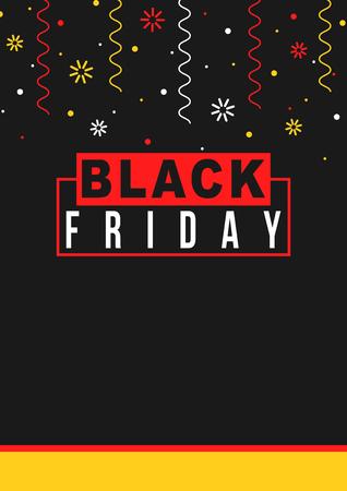 Black Friday sale poster Vector illustration Illustration