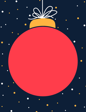 Christmas red ball winter themed poster