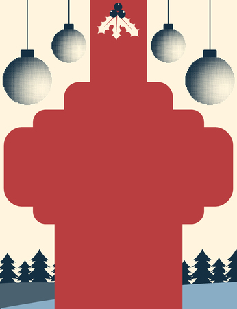 Vintage style christmas themed poster