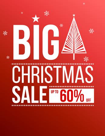 Big Christmas sale banner. Illustration
