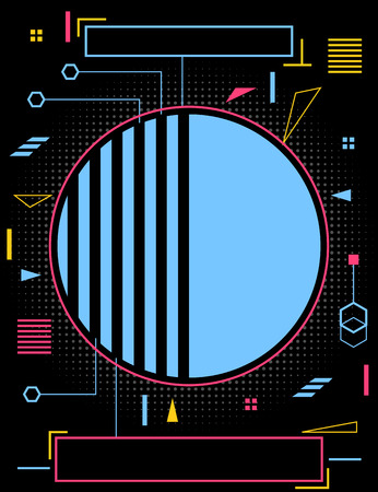 Neon style modern poster.