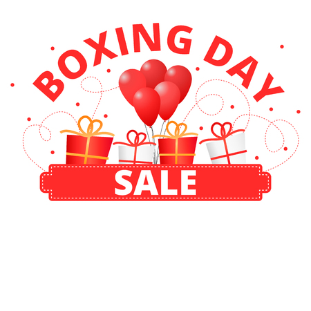 Boxing day sale red banner