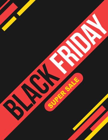 Black Friday super sale poster Illustration