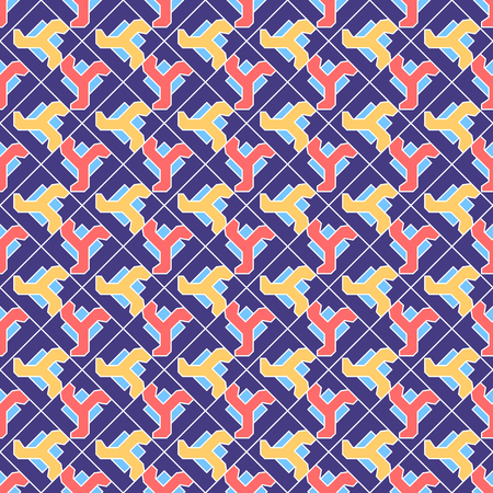 Abstract geometric shapes  pattern Illustration