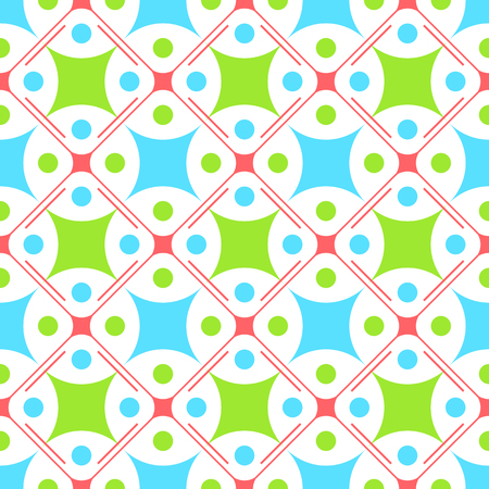 Baby colors themed geometric pattern.