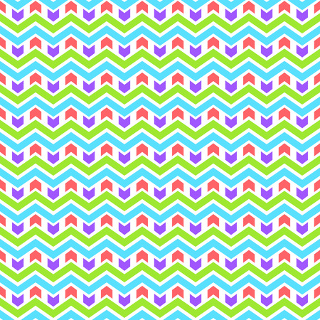 Baby style bright vibrant colors chevron seamless pattern